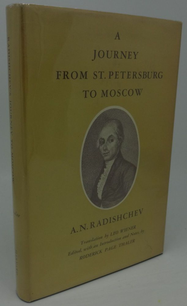 A JOURNEY FROM ST. PETERSBURG TO MOSCOW. A. N. Radishchev.