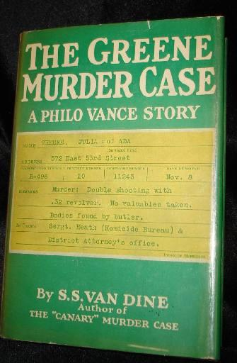 THE GREENE MURDER CASE. S. S. Van Dine.