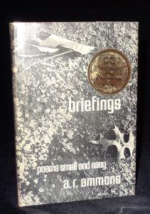 BRIEFINGS. A. R. Ammons.