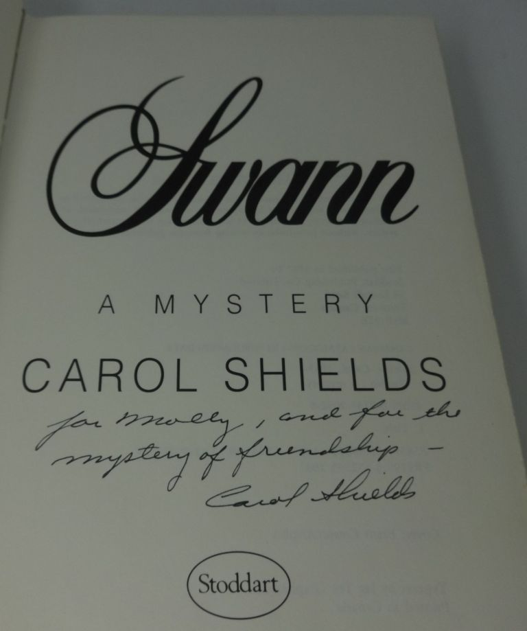 SWANN (SIGNED TWICE). Carol Shields.