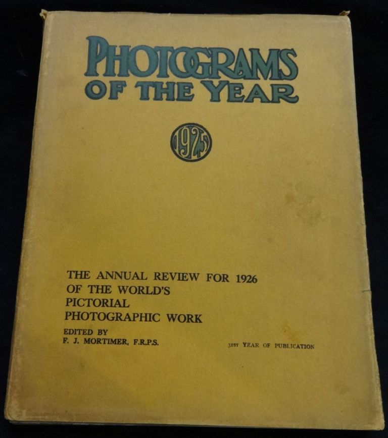 PHOTOGRAMS OF THE YEAR 1925. F. J. Mortimer.