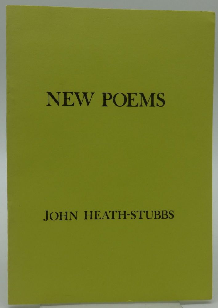NEW POEMS (LIMITED EDITION). John Heath-Stubbs.