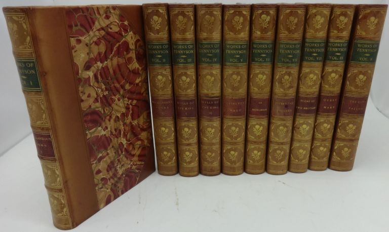 THE WORKS OF ALFRED LORD TENNYSON (Ten Volumes, Farringford Edition). Alfred Lord Tennyson, Eugene Parsons.