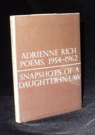 SNAPSHOTS OF A DAUGHTER IN LAW; POEMS, 1954-1962. Adrienne Rich.