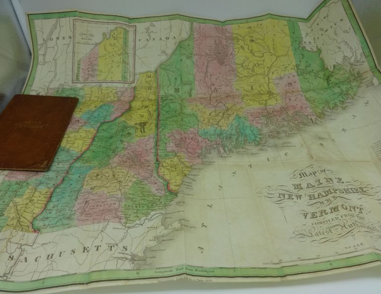 (MAP) MAINE, NEW HAMPSHIRE AND VERMONT. Anthony Finley.