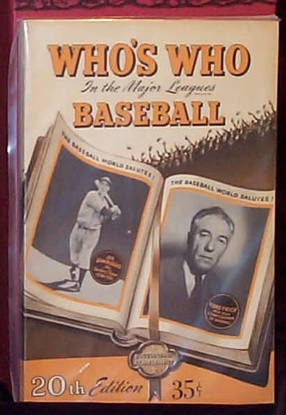 WHO'S WHO IN THE MAJOR LEAGUES (20th Edition)
