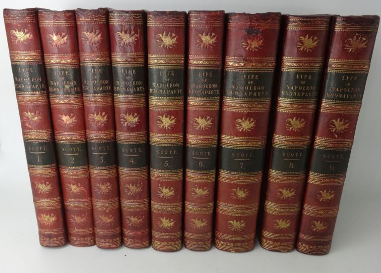 THE LIFE OF NAPOLEON BUONAPARTE, EMPEROR OF THE FRENCH. WITH A PRELIMINARY VIEW OF THE FRENCH REVOLUTION. (NINE VOLUMES). Sir Walter Scott Scott.