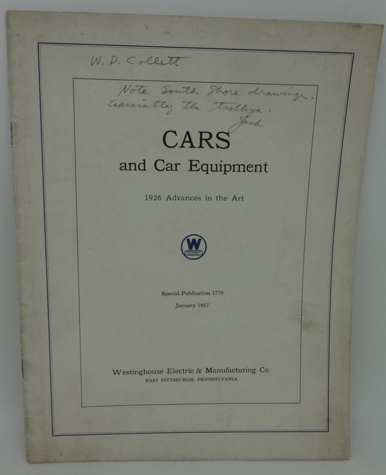 CARS AND CAR EQUIPMENT, 1926 Advances in the Art