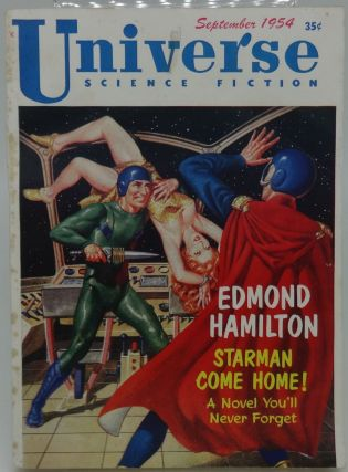 UNIVERSE SCIENCE FICTION September 1954, Issue 7. Ray Palmer, Bea Mahaffey. Edmond Hamilton, others.