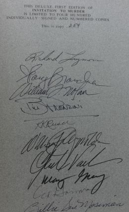 INVITATION TO MURDER (SIGNED LIMITED EDITION, SIGNED BY 20 AUTHORS)