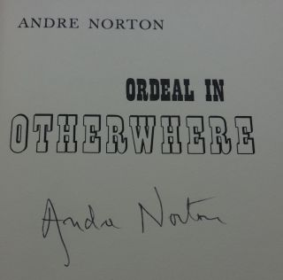ORDEAL IN OTHERWHERE (SIGNED)