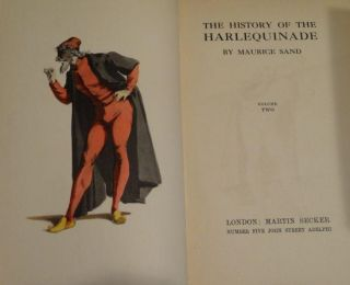 THE HISTORY OF THE HARLEQUINADE (Two Volumes w/Arnold Bennett Bookplates)