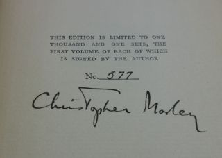 THE WORKS OF CHRISTOPHER MORLEY: THE HAVERFORD EDITION (SIGNED LIMITED)