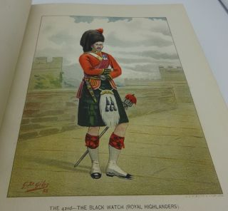 HER MAJESTY'S ARMY A Descriptive Account of the Various Regiments Now Comprising the Queen's Forces, From Their First Establishment to the present time (Four Volumes Complete)