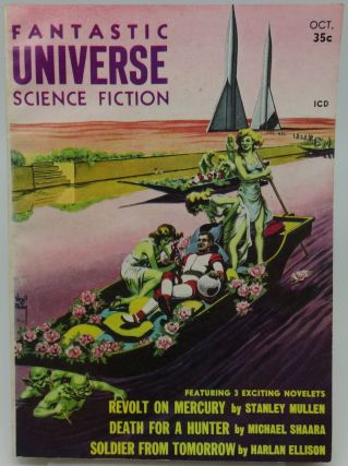 FANTASTIC UNIVERSE SCIENCE FICTION OCTOBER 1957. Harlan Ellison, Michael Shaara, Stanley Mullen.