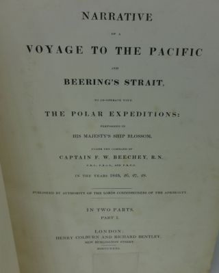 NARRATIVE OF A VOYAGE TO THE PACIFIC AND BEERING'S STRAIT, TO CO-OPERATE WITH THE POLAR EXPEDITIONS: PERFORMED IN H. M. SHIP BLOSSOM, IN THE YEARS 1825, 26, 27, 28.