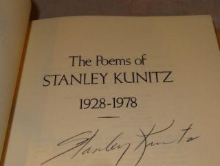 THE POEMS OF STANLEY KUNITZ