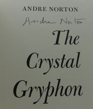 THE CRYSTAL GRYPHON (SIGNED)