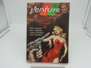 VENTURE SCIENCE FICTION SEPTEMBER 1957 Vol 1, No. 5. Floyd Wallace, Poul Anderson, Avram...