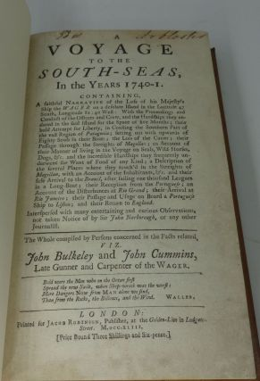 A VOYAGE TO THE SOUTH-SEAS IN THE YEARS 1740-1