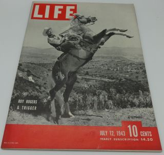 LIFE MAGAZINE JULY 12, 1943 (ROY ROGERS & TRIGGER