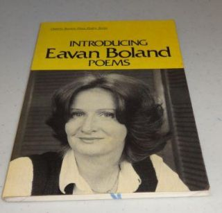 Introducing Eavan Boland (Ontario Review Press Poetry Series