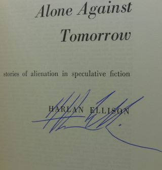 ALONE AGAINST TOMORROW (SIGNED TWICE)