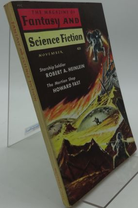 THE MAGAZINE OF SCIENCE FICTION November 1959 Vol. 17. No. 5. Robert A. Heinlein, Howard Fast.