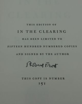 IN THE CLEARING (Signed)