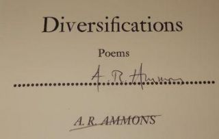 Diversifications: Poems. A. R. Ammons
