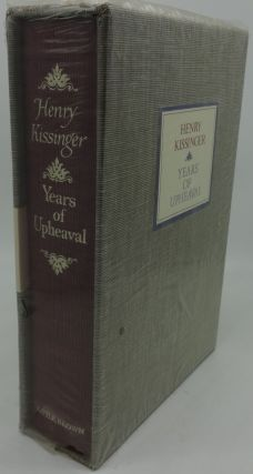 YEARS OF UPHEAVAL (Signed). Henry Kissinger