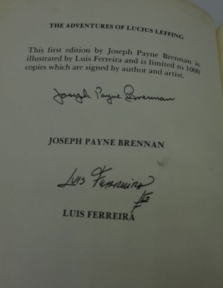 THE ADVENTURES OF LUCIUS LEFFING (SIGNED LIMITED)