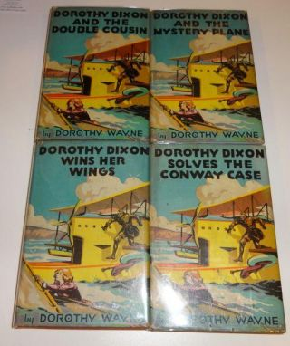 DOROTHY DIXON AND THE MYSTERY PLANE (Four Volumes). Dorothy Wayne.