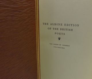 THE POETICAL WORKS OF JAMES THOMSON (THE ALDINE EDITION OF POETS, Two volumes)