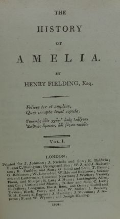 THE HISTORY OF AMELIA