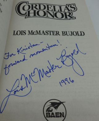 CORDELIA'S HONOR (SIGNED/INSCRIBED
